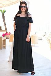 Платье свободного кроя на резинке по талии, верх платья регулируется