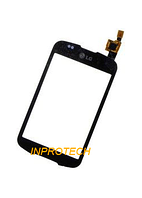 Сенсор (тачскрин) LG P500 Optimus One Black Orig
