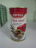 Оливки зеленые с перцем Baresa Olive verdi 350 г