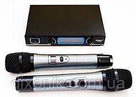 Мощная беспроводная радиосистема Max DH-769 2 радио микрофона с базой