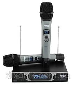 Професійна радіосистема Shure SH-999R 2 радіо мікрофона з базою