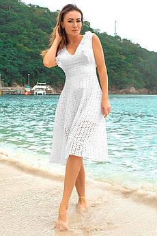 Белое платье с коротким рукавом Фабьян прошва