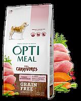 Сухой беззерновой полнорационный корм Optimeal для взрослых собак всех пород - индейка и овощи 10 кг