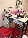 Маникюрный столик с вытяжкой Turbo Teri, УФ-лампой и ящиком Карго, фото 4