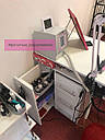 Маникюрный столик с вытяжкой Turbo Teri, УФ-лампой и ящиком Карго, фото 6