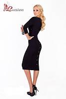 Деловое трикотажное платье с пуговками 17, фото 1