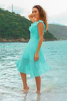 Летнее платье с оборками Фабьян ментол