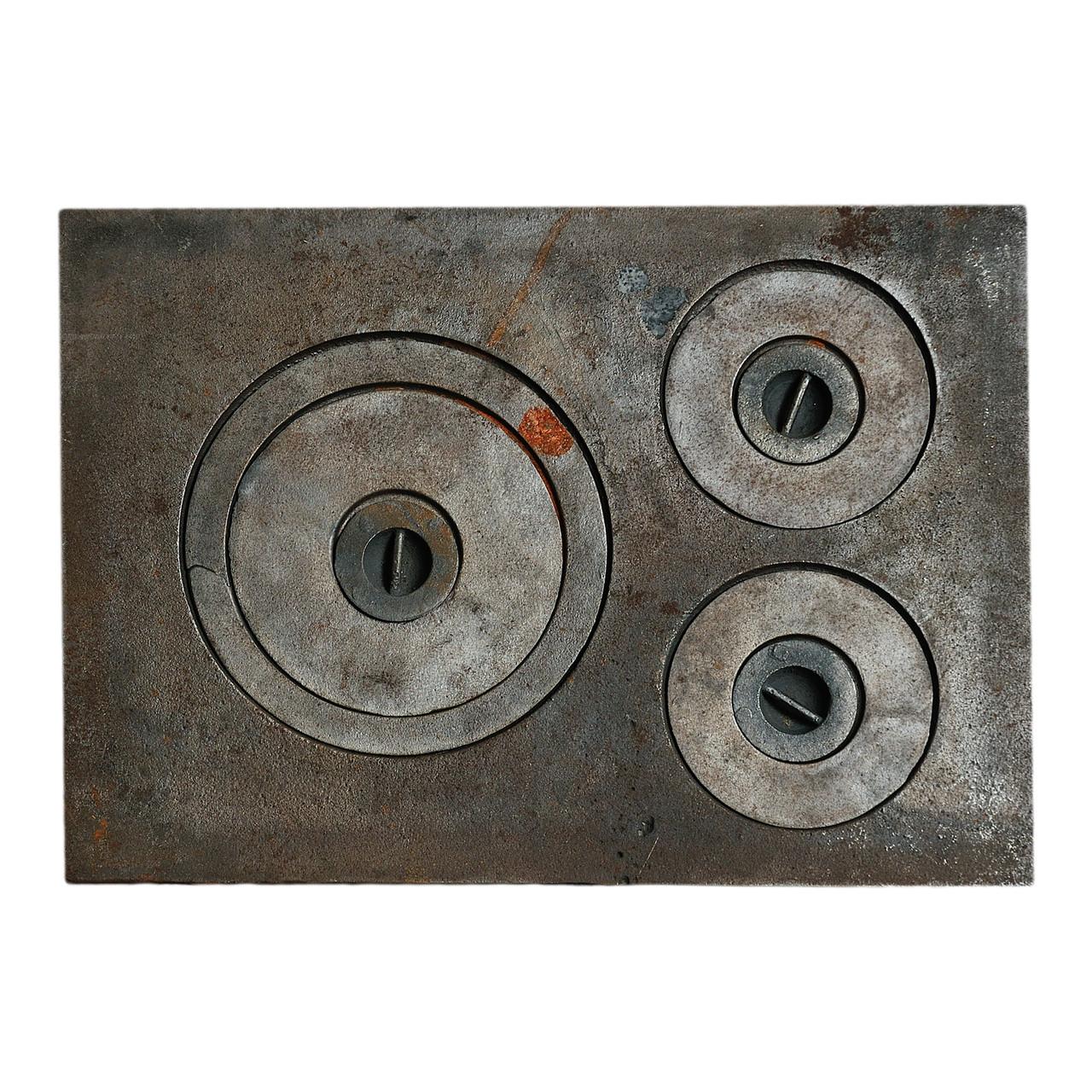 Плита чугунная 3-х комфорочная 385х540 мм