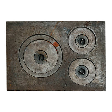 Плита чугунная 3-х комфорочная 385х540 мм, фото 2