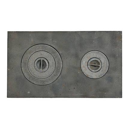 Плита чугунная 2-х комфорочная 400х700 мм, фото 2