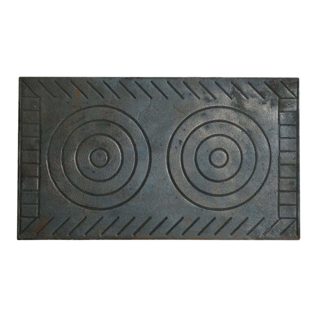 Плита чавунна 2-х комфорочная (Рум) 410х710