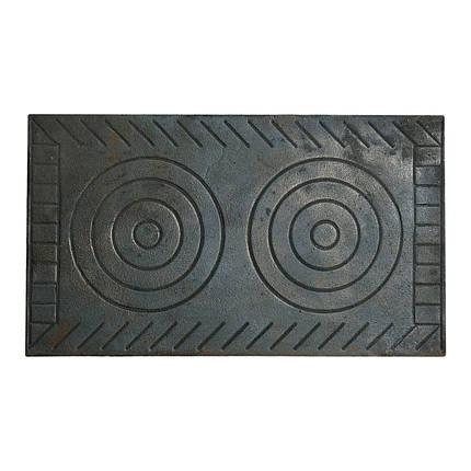 Плита чавунна 2-х комфорочная (Рум) 410х710, фото 2