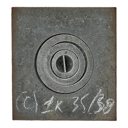 Плита чугунная 1 комфорочная 350х380, фото 2