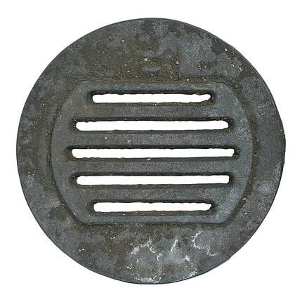 """Решітка чавунна """"Титан"""" кругла діаметр 350, фото 2"""