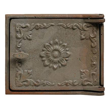 Дверца чугунная топочная  (завертка) 215х265 190х240, фото 2