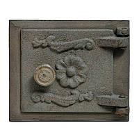Дверца чугунная прочистная  (сажа) 140х160 105х125