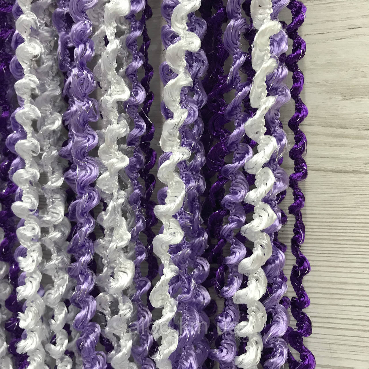 Шторы спираль радуга 300x280 cm Фиолетовый- белый-сирень ( Ki-4010)