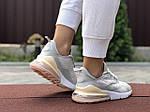 Женские кроссовки Nike Air Max 270 (серо-розовые) 9645, фото 2