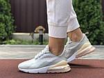Женские кроссовки Nike Air Max 270 (серо-розовые) 9645, фото 4
