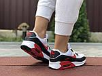 Жіночі кросівки Nike Air Max 90 (біло-чорне з червоним) 9646, фото 2