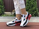 Жіночі кросівки Nike Air Max 90 (біло-чорне з червоним) 9646, фото 4