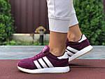 Женские кроссовки Adidas Iniki (фуксия) 9647, фото 3
