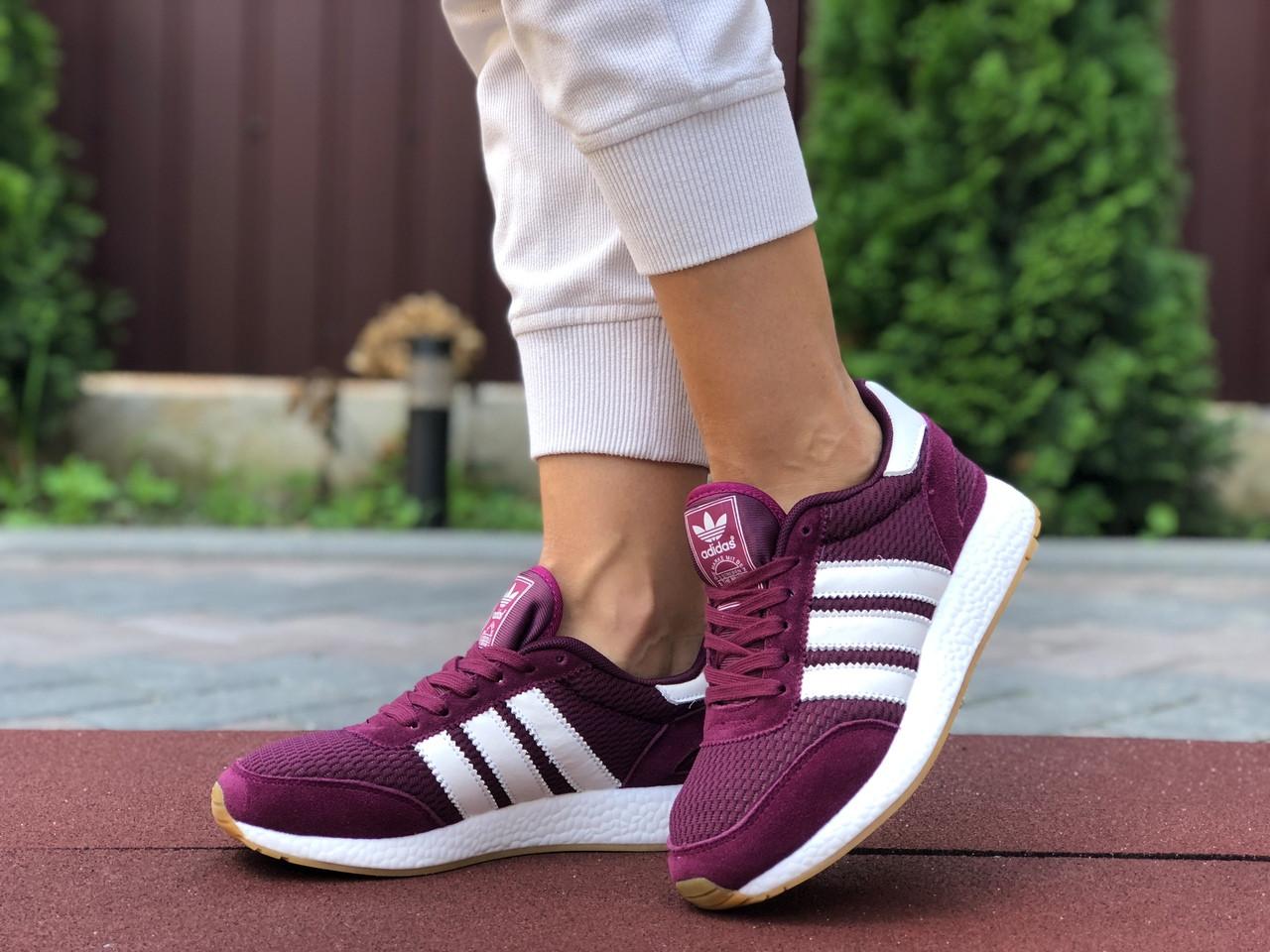 Женские кроссовки Adidas Iniki (фуксия) 9647
