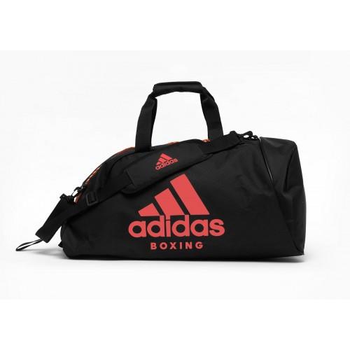 Сумка-рюкзак (2в1) с красным логотипом Adidas Boxing (черный, ADIACC052B)