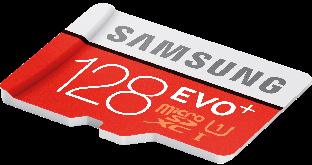 Флеш память microSDXC 128GB Samsung EVO Plus (Class 10) + UHS-I (MB-MC128HA)