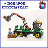 """Конструктор """"Лесовоз"""" Sluban M38-B0778, аналог LEGO, 209 деталей"""