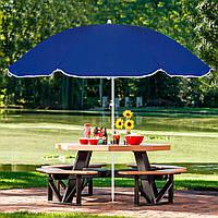 Зонт для пляжа отдыха на даче в саду с регулируемой высотой и наклоном Springos 180 см