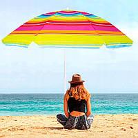 Зонт для пляжа отдыха на даче в саду с регулируемой высотой и наклоном Springos 160 см