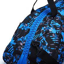 Сумка-рюкзак (2в1) с серебряным логотипом Adidas Boxing (синий камуфляж, ADIACC058B), фото 3
