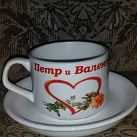 Печать на кофейных чашках
