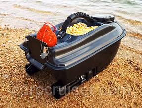 Карповый кораблик для прикормки ACTOR 5A  для рыбалки, завоза прикормки, наживки 2 бункера