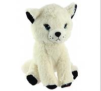 Детская музыкальная плюшевая игрушка Котик Baby Mix, белый