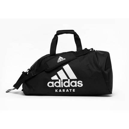 Сумка с белым логотипом Adidas Karate (черная, ADIACC055K), фото 2