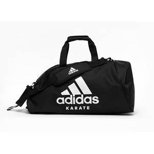 Сумка с белым логотипом Adidas Karate (черная, ADIACC055K)