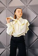 Блузка с бантом школьная для девочки.