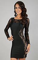 Экстравагантное короткое платье Miss Lusien - купить короткое платье мини Украина оптом