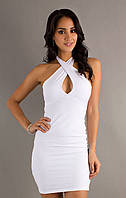 Летнее платье Miss Lusien коктейльное, мини, с открытой спиной, фото 1