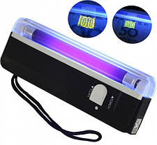 Компактный портативный карманный  ультрафиолетовый детектор валют на батарейках DL-01, фото 2