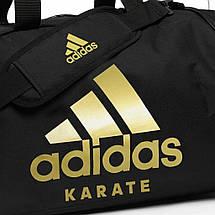 Сумка с золотым логотипом Adidas Karate (черная, ADIACC055K), фото 2