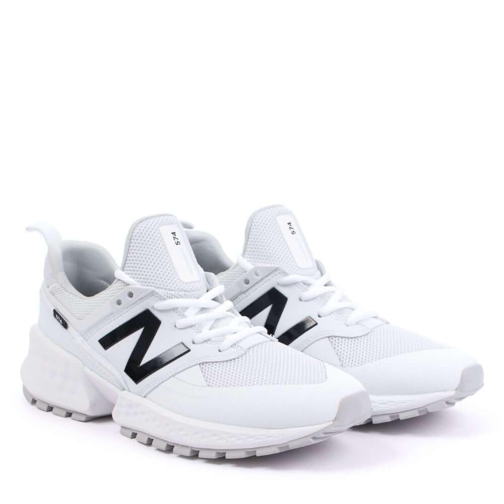 Кроссовки New Balance 574 Sport V2 белого цвета (Нью Баланс мужские и женские размеры 36-45)