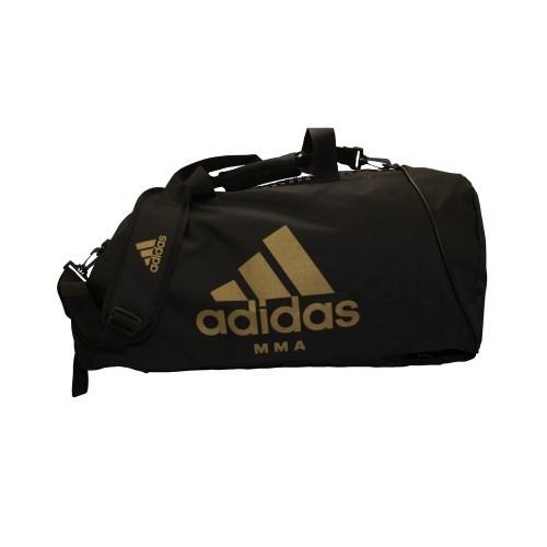 Сумка-рюкзак (2в1) с золотым логотипом Adidas MMA (черный, CC052MMA)