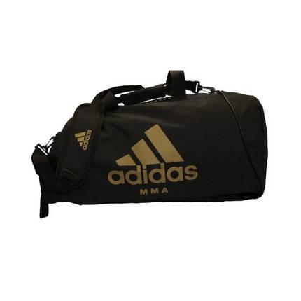 Сумка-рюкзак (2в1) с золотым логотипом Adidas MMA (черный, CC052MMA), фото 2