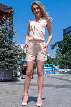 Легкі літні шорти Клайм софт пудра