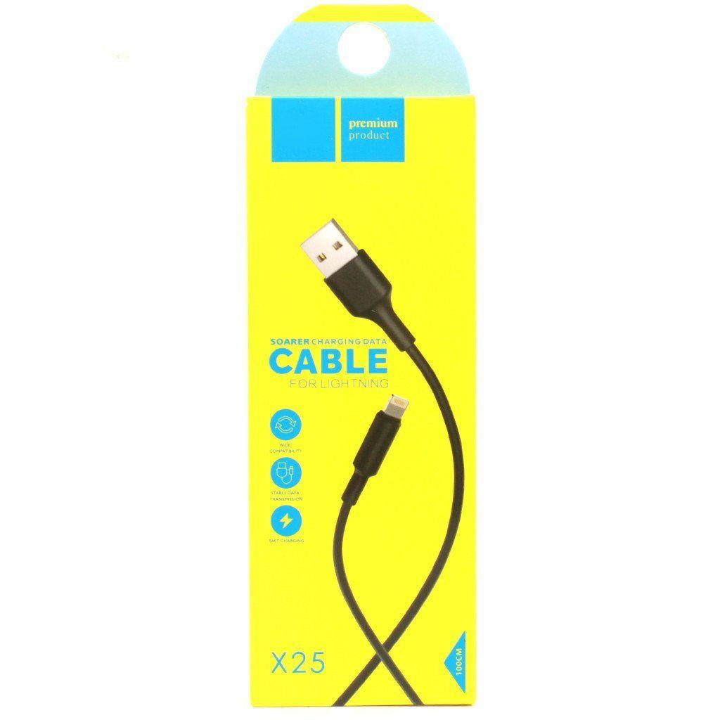 Кабель USB Hoco X25 Soarer Сharging Lightning (HOCOX25)