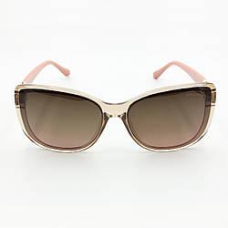 Стильні окуляри з поляризацією сонцезахисні коричневі BVLGARI