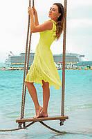 Желтое платье большого размера Фабьян прошва